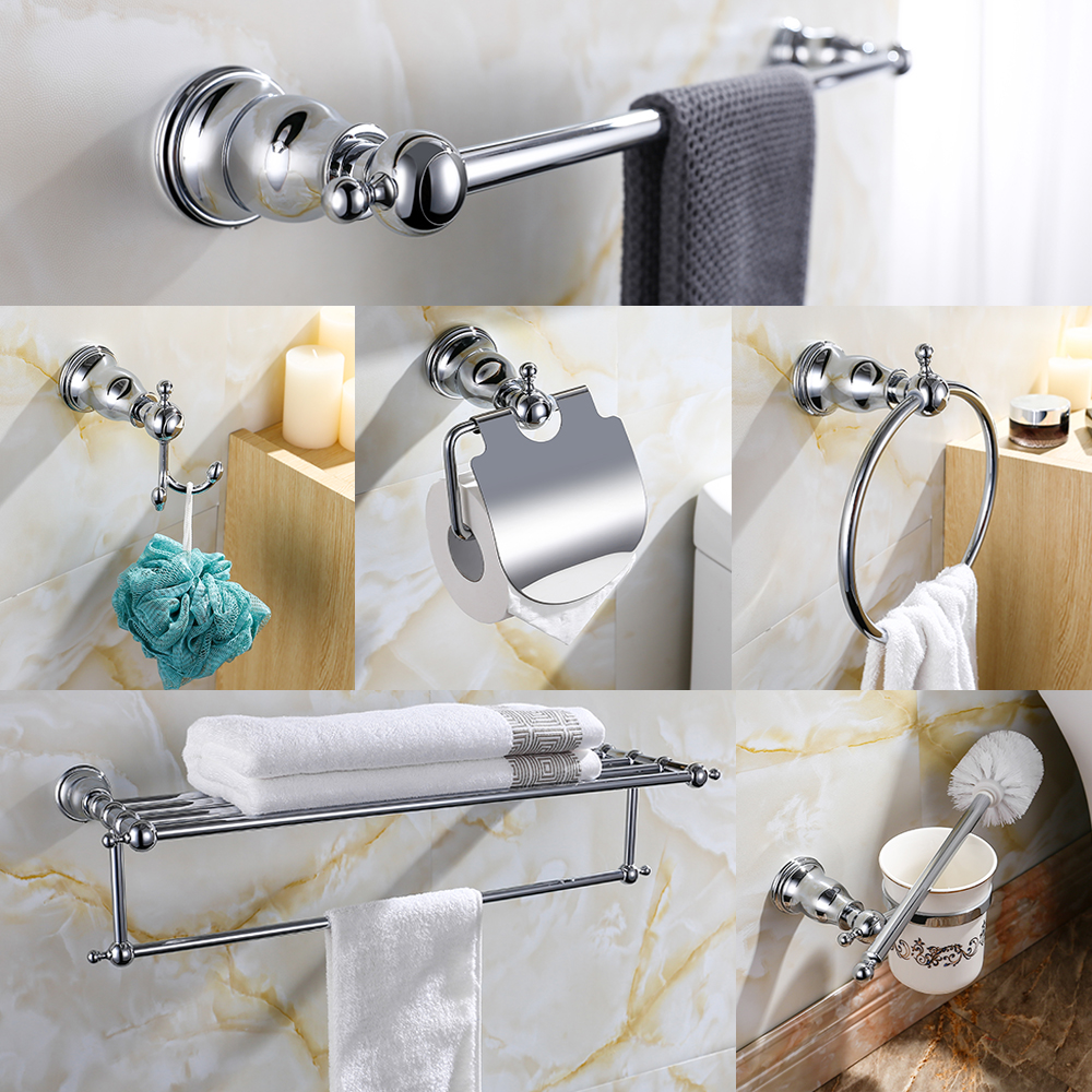 Wall Mounted Bathroom Hardware Set Chrome Polished Brass Toothbrush Holder Paper Holder Towel Rack Bar Hook Bathroom Accessories Buy At The Price Of 25 46 In Aliexpress Com Imall Com