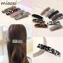 New Fashion Acetate Vintage Women Hair Barrettes Casual Beauty Brand Korean Colors Hair Clips Girl Elegant Hairpins