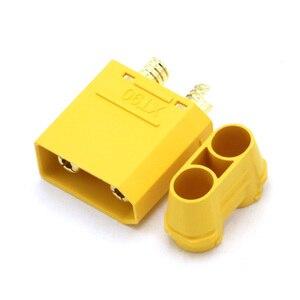 Image 5 - 100 pçs/lote amass xt90 xt90h conjunto de conector da bateria 4.5mm macho fêmea banhado a ouro banana plug (50 par)