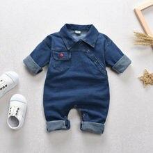 Детский джинсовый комбинезон для маленьких мальчиков и девочек, комбинезон, пляжный костюм, одежда