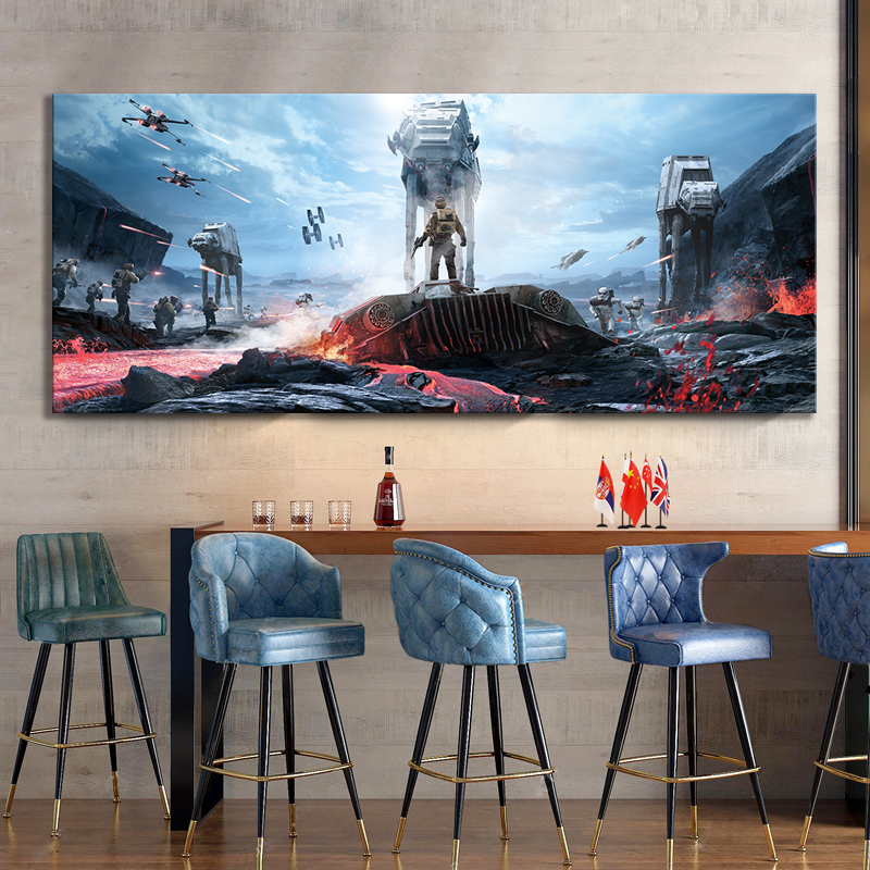 Star Wars Battlefront Video Games Art Cavnas Painting Shooting Game Fantasy Art Wall Decor Painting image