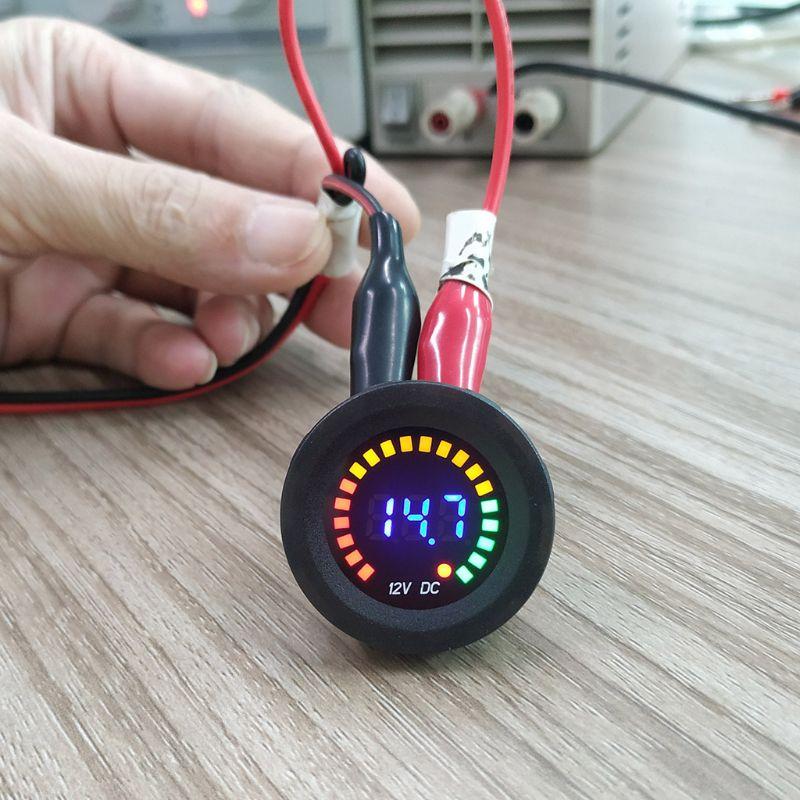 DC 12V Car Motorcycle Digital Voltmeter Voltage Gauge Meter LED Panel Display 35ED