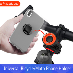 Soporte de teléfono Universal GPS para bicicleta soporte de moto Clip de teléfono para motocicleta soporte para Android para iPhone soporte