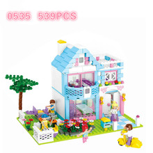 Sluban Girl Friend Pink Dream Series Building blocks Enlighten Brick Educational DIY girl Villa Legoingly Toys compatible