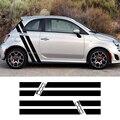 Fiat 500 595 için Abarth araba Styling vücut kapı dekor çıkartmalar ücretsiz kargo yan çizgili grafik çıkartmaları Tuning araba aksesuarları