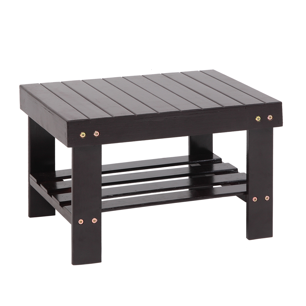 Children's Stool Bamboo Bench Stool Lightweight Bath Shower Chair For Home Indoor 41x28x26CM E2S
