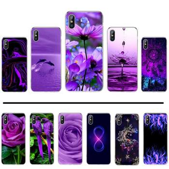 infinity on purple flower coque Phone Case For iphone 12 5 5s 5c se 6 6s 7 8 plus x xs xr 11 pro max image