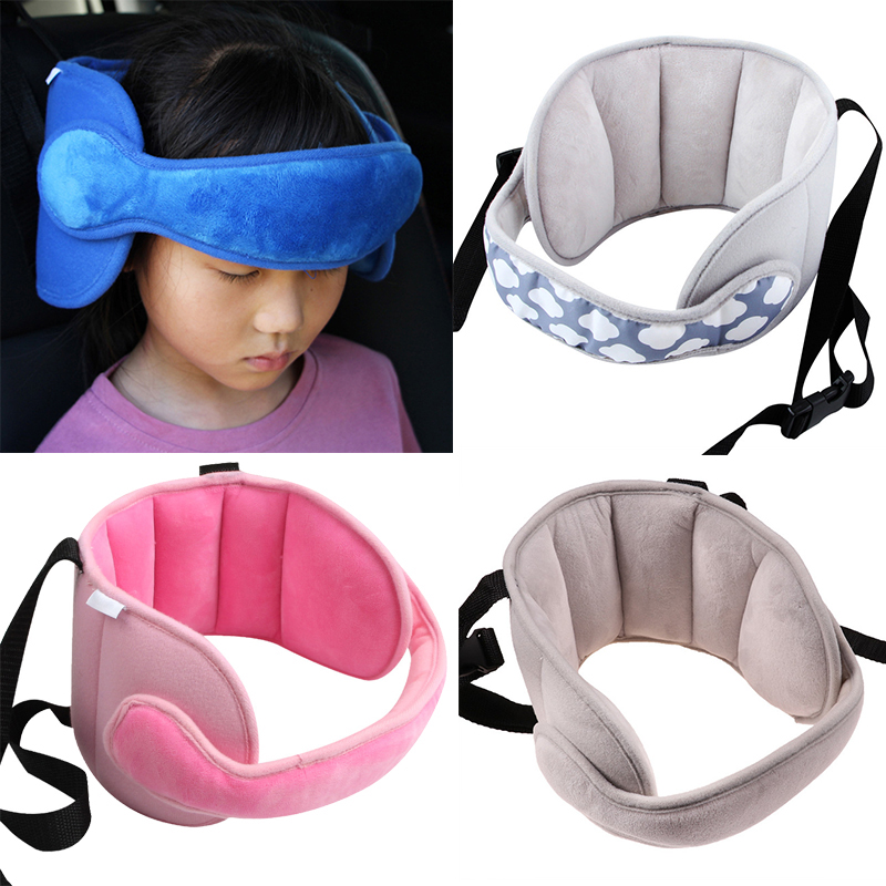 Baby Kids Adjustable Car Seat Head Support Head Fixed Sleeping Pillow Neck Protection Children Belt Fastening Safety Headrest