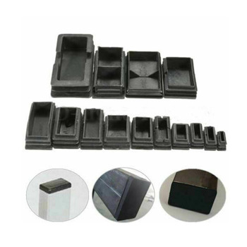 20pcs Black Plastic Blanking End Caps Rectangular Pipe Tube Cap Insert Plugs Bung For Furniture Tables Chairs Protector