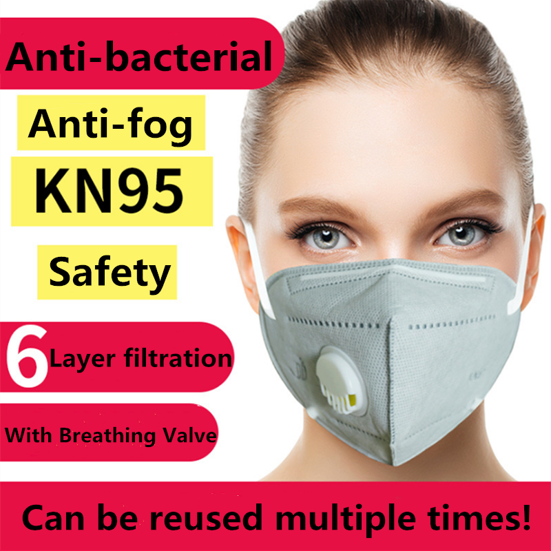 KN95 With Breathing Valve Mask Wholesale Folding Protective N95 PM2.5 Mask Anti-Fog Dust Healthy Mask Fast Delivery