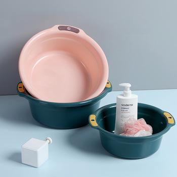 Umywalki domowe zagęszczane umywalki z otworami duże umywalki plastikowe umywalki tanie i dobre opinie Z tworzywa sztucznego 464587 38 cm Nieprzezroczyste 300g