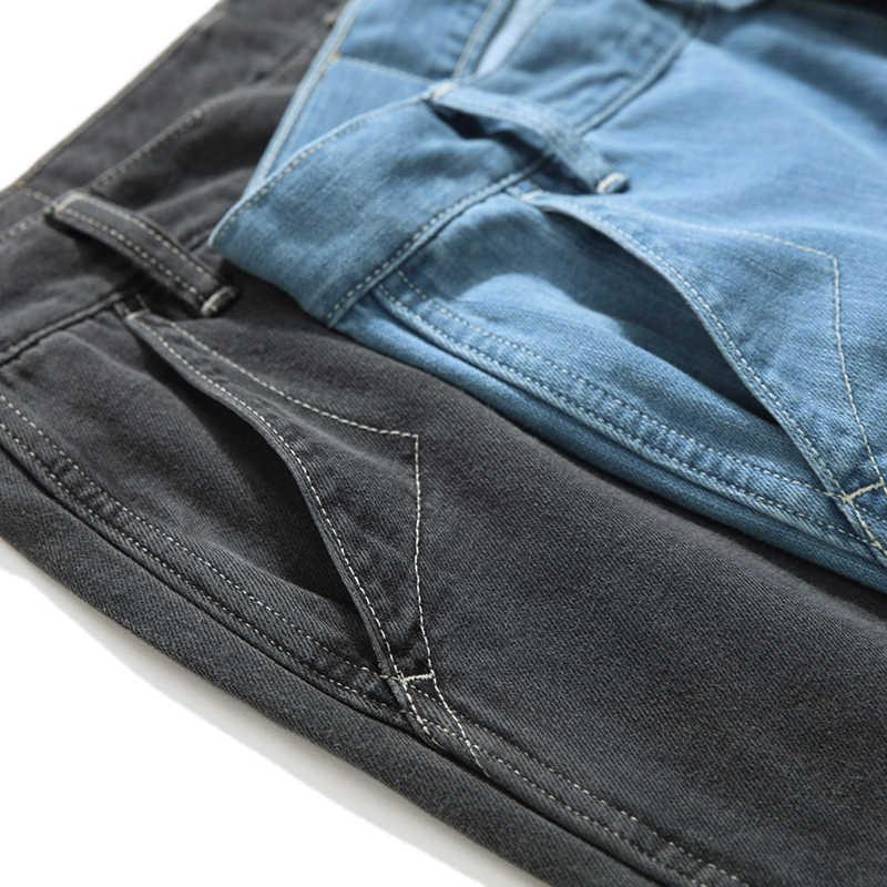 SauceZhan JF08, джинсы, свободные, высокие джинсы, мужские джинсы, Брендовые мужские джинсы, мужские брюки, джинсы, мужские джинсы, синие джинсы