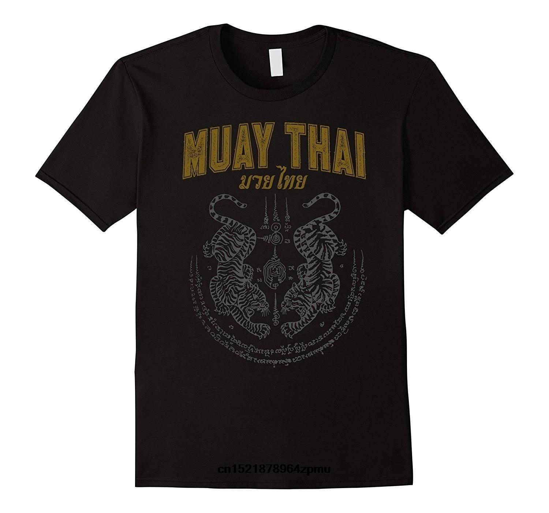 Hommes t-shirt double tigre Sak Yant Muay Thai mode coton s drôle t-shirt nouveauté t-shirt femmes