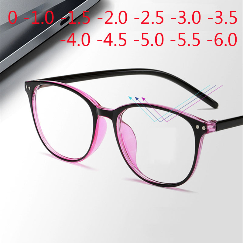 Rivets Finished Myopia Glasses Men Women Square Nearsighted Eyeglasses -1.0 -1.5 -2.0 -2.5 -3.0 -3.5 -4.0 -4.5 -6.0