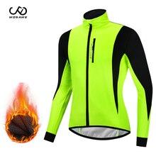 Bike Jersey Bicycle-Windbreaker Cycling-Clothing Wind-Coat WOSAWE Waterproof Winter Warm