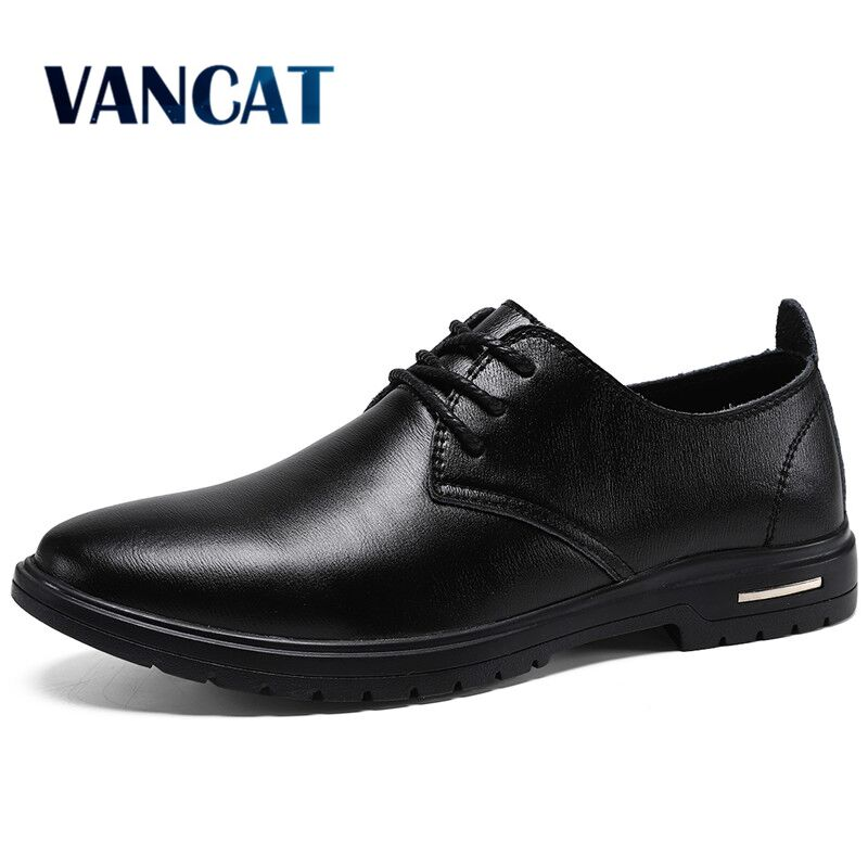 Fashion Business Men Shoes New High Quality Leather Men's Loafers Casual Shoes Lace Up Dress Shoes Men Oxfords Big Size 38-48