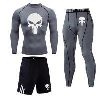 Gray - Men's bodybuilding jogging suit