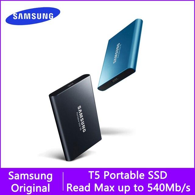 سامسونج t5 المحمولة ssd الخارجية محركات الأقراص الصلبة 250 GB 500 GB 1 تيرا بايت USB 3.1 Gen2 الخارجية وسيط تخزين ذو حالة ثابتة/ القرص الصلب ديسكو دورو ssd المحمولة