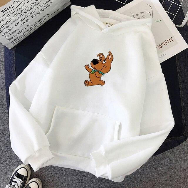 oversized Cute Dog Print Sweatshirt Kawaii Hoodies for Women top clothes Hoody Female Itself  Winter Women's Hoodies Full Sleeve 2