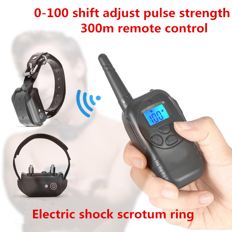 Penis Ring Alternative Sex Toys Remote Control Electric Shock Collar Pulse Scrotum Restraint Ring Training Equipment