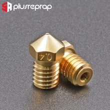 Buy High Quality Series Brass V6 Nozzles for 3D Printer 0.4mm M6 Threaded Nozzle for Titan Extruder 3D Nozzles V5 V6 J-Head Hotend directly from merchant!