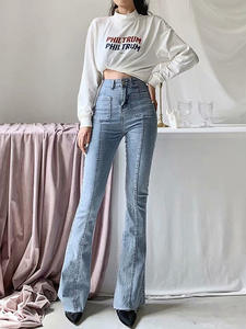 Jeans Women Long-Legs Stretch Slim American-Style High-Waist Winter Autumn New European