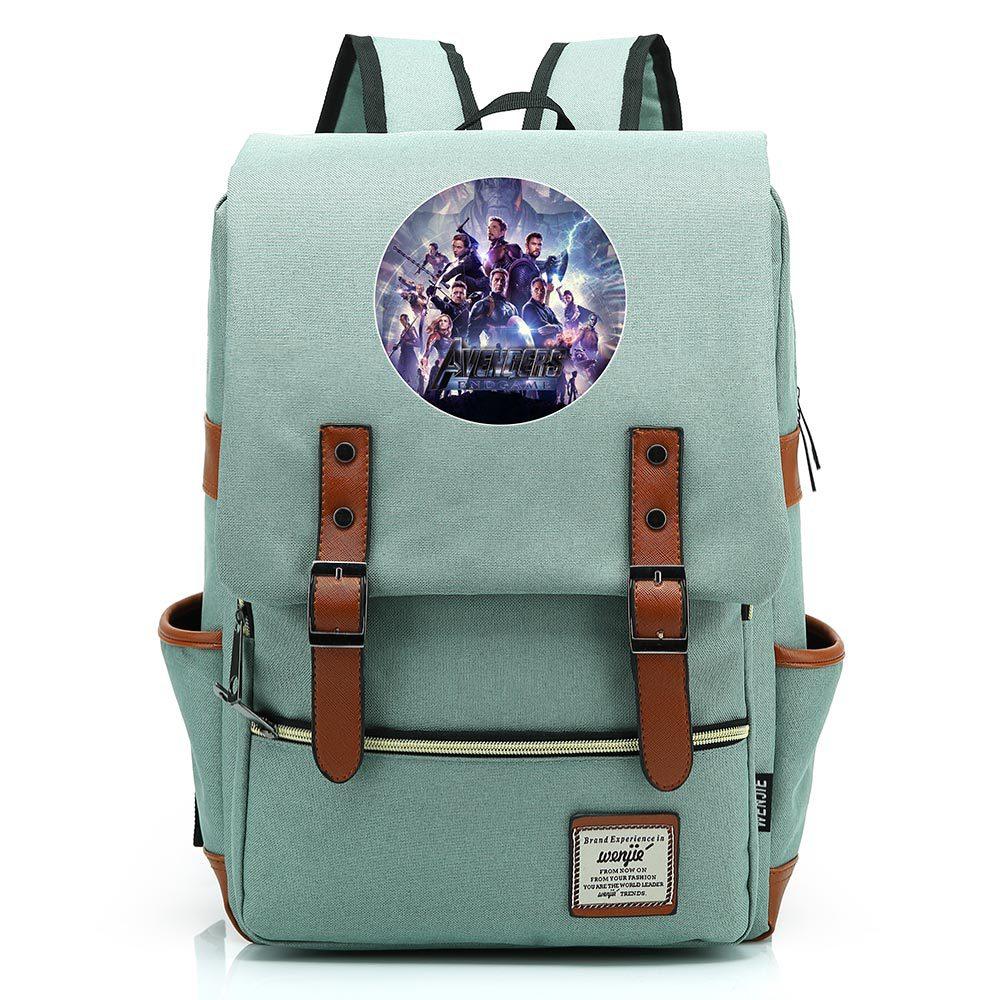 Anime Superhero Iron man Backpack For Teenagers Kids Boy Girl Student School Bags Unisex Laptop Backpack Travel Shoulder Bag
