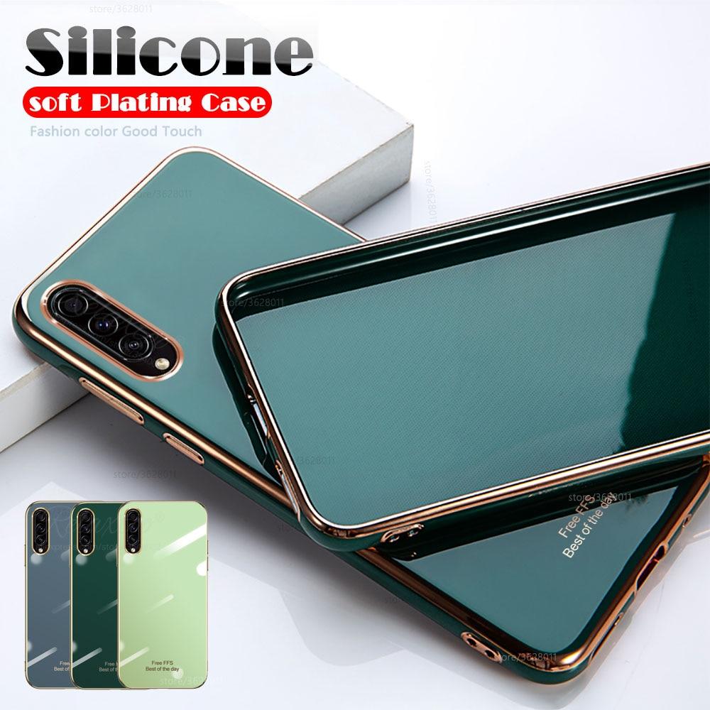 Para samsung a 30 s luxo 6d chapeamento caso para samsung galaxy a50 a50s a30s macio tpu silicone telefone capa protetora escudo
