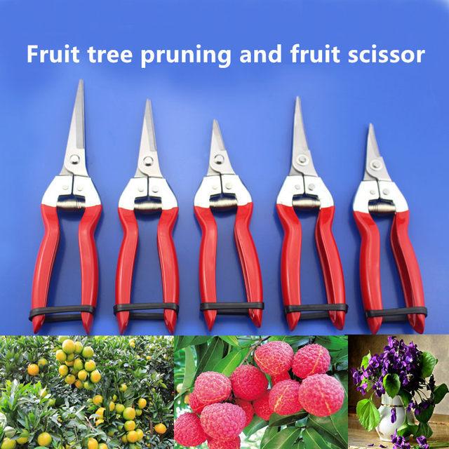 1pc Garden Pruning Shear High Carbon Steel Scissors Grafting Bonsai Tool Fruit Tree Flowers Branch Pruner Trimmer Garden Tools
