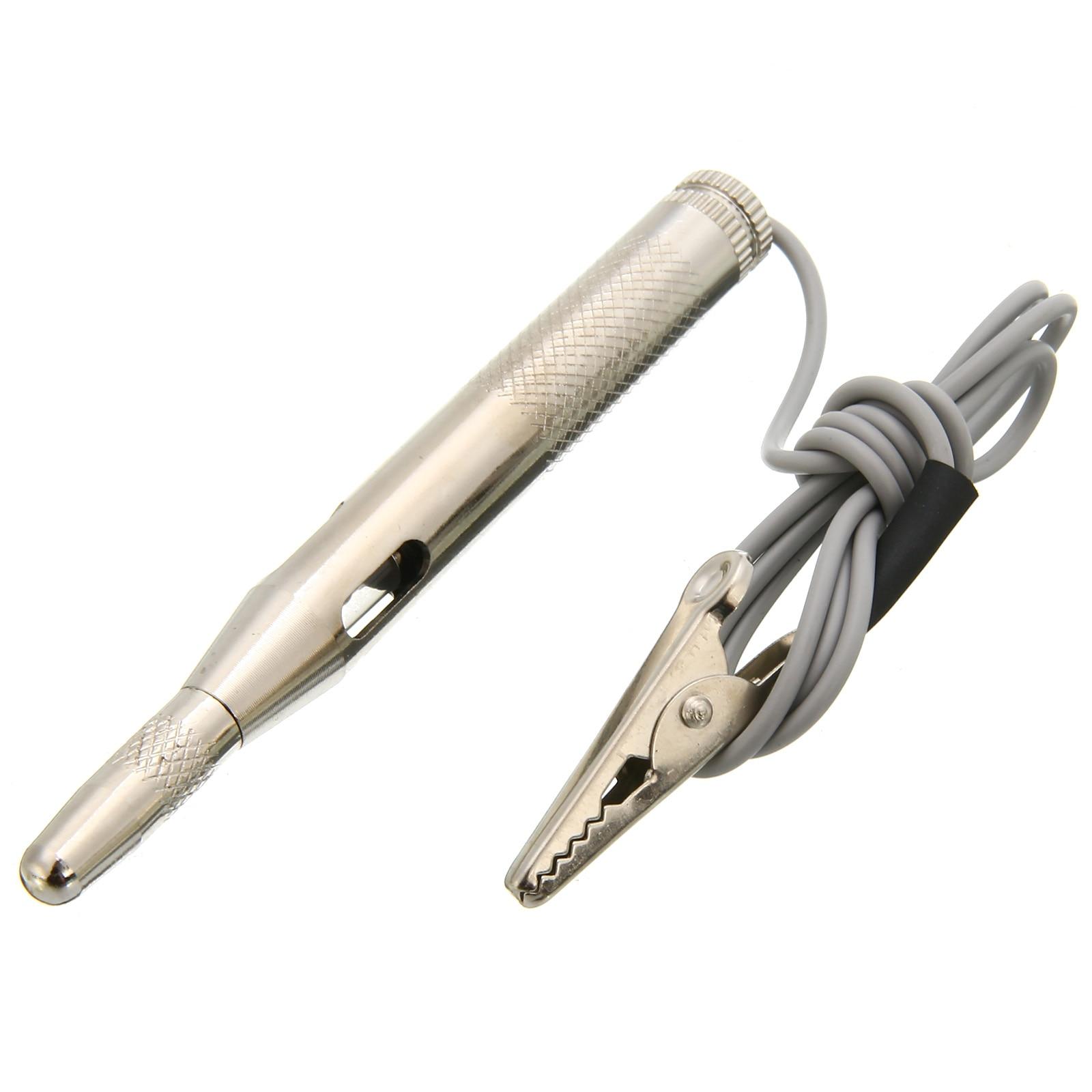 1 sztuk samochodów narzędzie diagnostyczne obwodu Tester narzedzia samochodowe DC 6-24V Auto Tester obwodów napięcia ołówek światła długopis testowy zaciski krokodylkowe