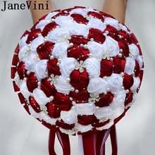 Крупные свадебные букеты jaevini 30 см темно красные цветы роскошный