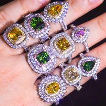 Роскошное женское кольцо с покрытием из белого золота кольца