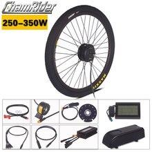 Набор Chamrider ebike 36 в 48 в 250 Вт 350 Вт Электрический велосипед конверсионный комплект Julet водонепроницаемый разъем MXUS двигатель LCD3 дисплей