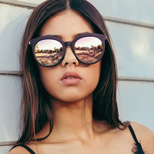 Женские квадратные солнцезащитные очки FSQCE, брендовые дизайнерские зеркальные очки кошачий глаз с покрытием, солнцезащитные очки UV400