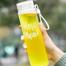 Gift-Cup Items Water-Bottle Glass 400ml Portable Outdoor Creative Camping Gradient Frosted