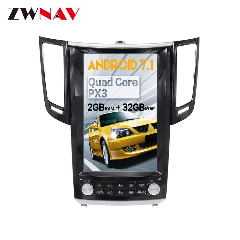 IPS 大画面テスラスタイルの android 7.1 無線 Lan インフィニティ FX FX25 FX35 FX37 qx70 GPS ナビビデオオーディオヘッドユニット no dvd  グループ上の 自動車 &バイク からの 車用マルチメディアプレーヤー の中 1