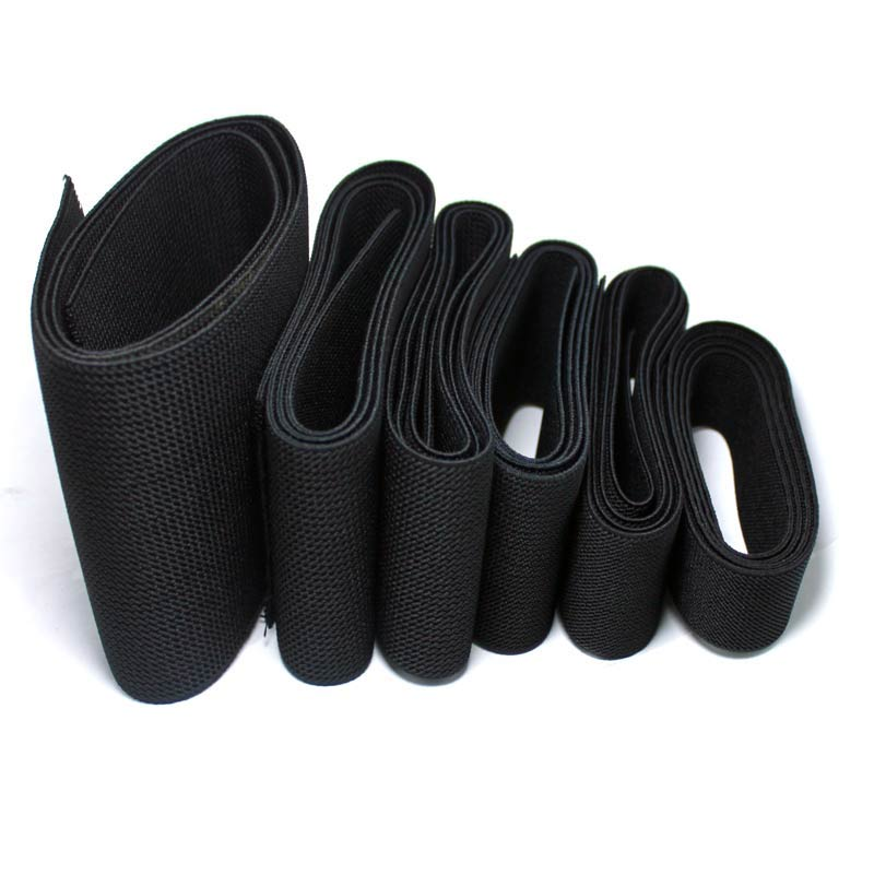2-10cm Thick Twill Wide Flat High Elastic Elastic Band Shoes Waistband Tied Rubber Band Elastic Rope Clothing Accessories Black