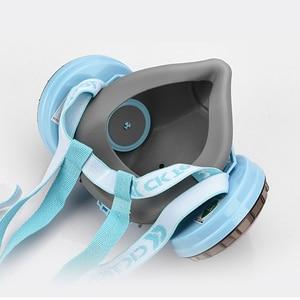 Image 5 - CK טק. בטיחות משקפי מגן עמיד הלם + סיליקון מגן נגד אבק מסכת ההנשמה נגד גז פורמלדהיד חומרי הדברה צבע מסכת סט