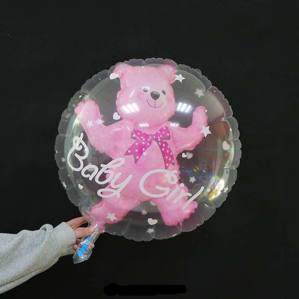 59 * 69cm Large Bubble Bear Aluminum Foil Helium Balloons Toys Boy Girl Wedding Decoration Birthday Baby Shower Theme Party Toys 2