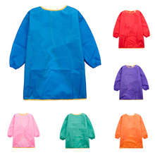 Apron Painting Smock Kids Children Sand-Tower Craft-Art Long-Sleeve Home for Travel M/L
