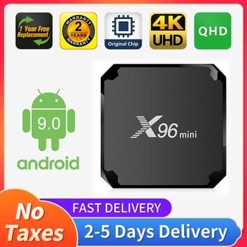 X96mini QHD Android TV box 9.0 S905W 1+8G 2+16G Smart TV receiver FHD UHD QHD X96 mini Android 9.0 Smart TV Top Box X96 no app