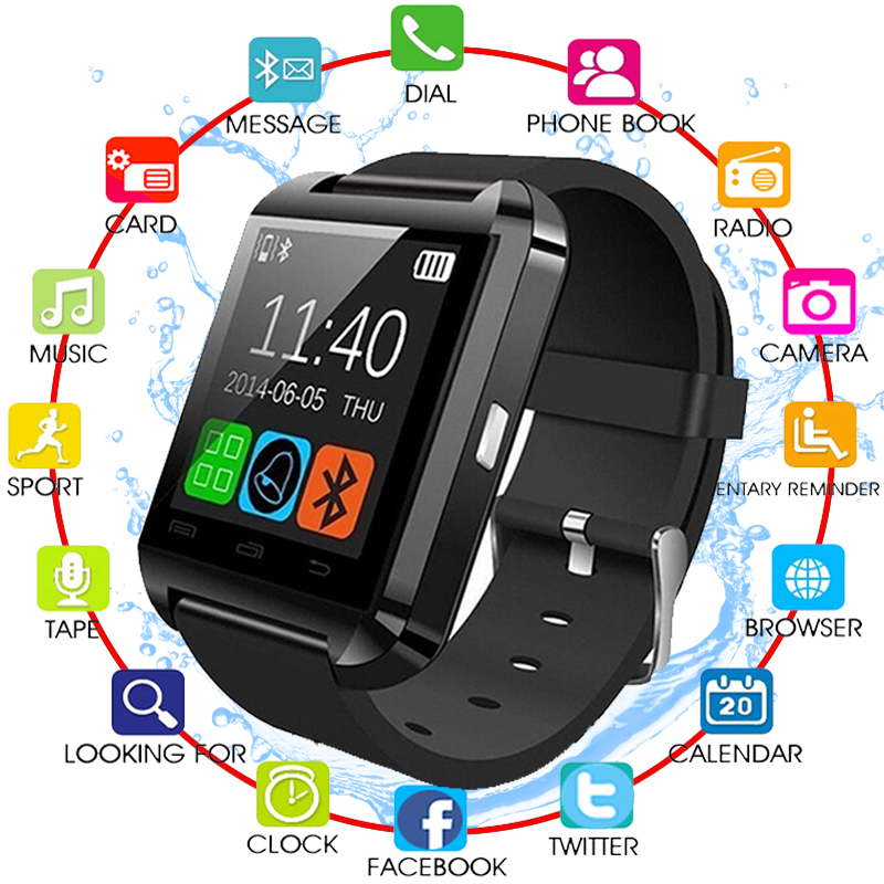 2020 New Stylish U8 Bluetooth Smart Watch For IPhone IOS Android Watches Wear Clock Wearable Device Smartwatch PK Easy To Wear Pakistan