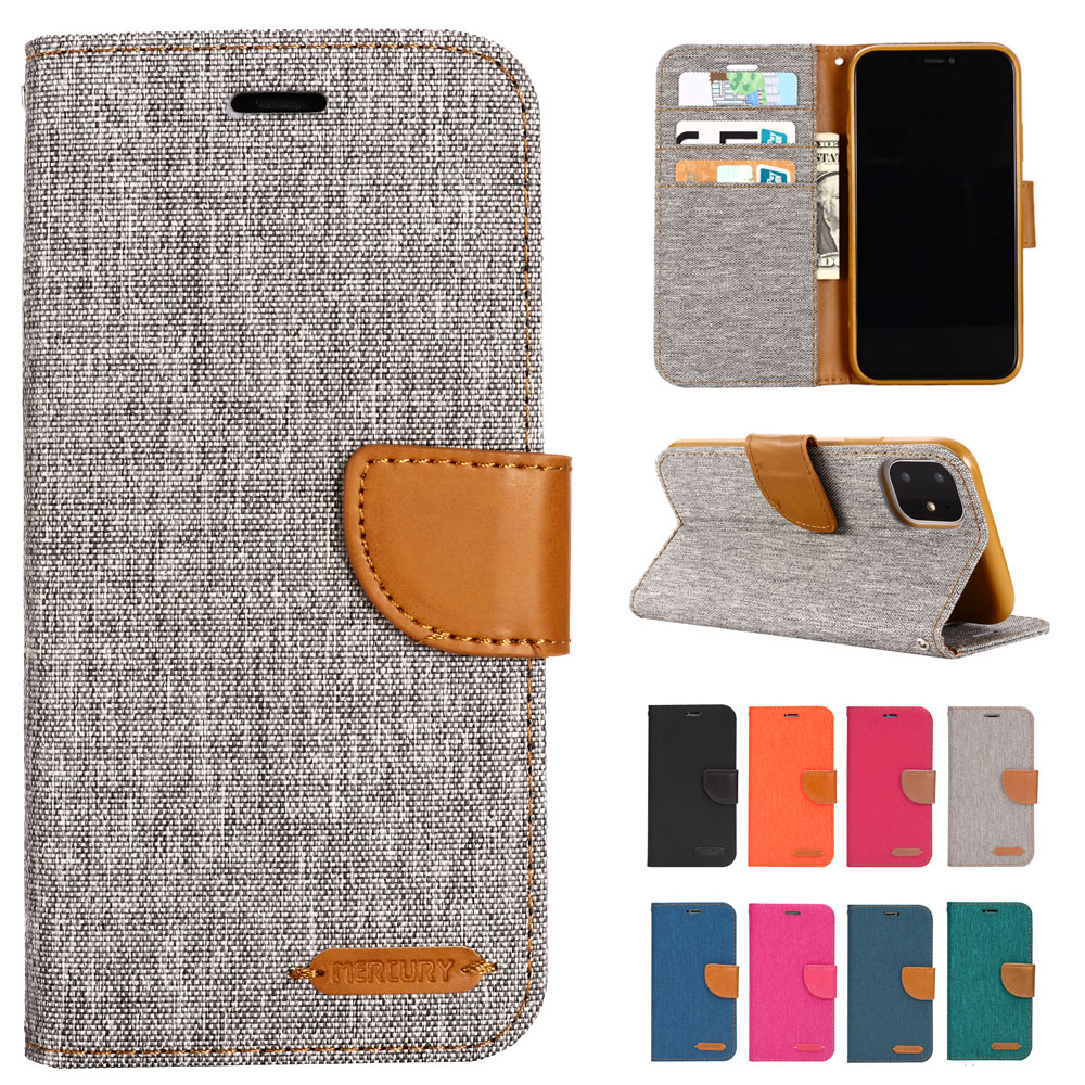 Denim Mixed Colors PU <font><b>Leather</b></font> Flip Case For <font><b>iPhone</b></font> 11 Pro Max X XS XR XS Max 5 5S SE <font><b>6</b></font> 6S 7 8 Plus Phone <font><b>Cover</b></font> Cases image