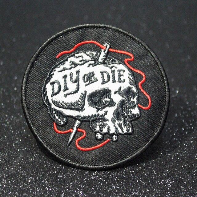 Pulaqi Heath-Patch brodé Punk Joker | Patch bricolage pour vêtements, patchs en fer sur les vêtements, Anarchy Biker, Badge