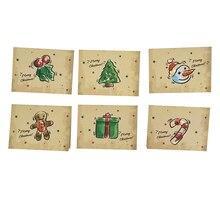 Рождество, Год, поздравительная открытка, поздравительная открытка, милая мультяшная Рождественская елка, креативное мини-сообщение, спасибо, маленькая открытка, бумага