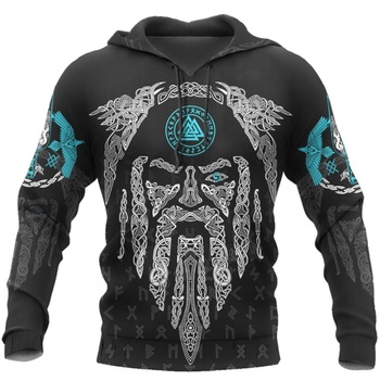 3D All Over Printed Raven And Odin Men hoodies Viking Tattoo Harajuku Fashion Hooded Sweatshirt Unisex hoodie Drop ship H029 1