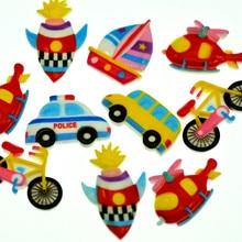 Randomly Mixed Transportations Miniature|Back to School Scrapbooking Embellishments|Flatback Car-Bus-Taxi-Bike Miniatures
