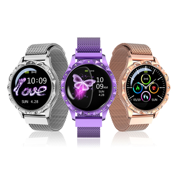 D18 Smart Watch IP67 Women Heart rate Monitoring Waterproof smartwatch Physiological period Reminder sport blood pressure Watch