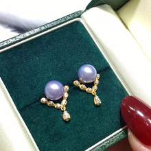 New Arrival 925 Sterling Silver Earrings Findings Settings Mountings Jewelry Parts Fittings for Pearls Coral Jade Agate Beads(China)