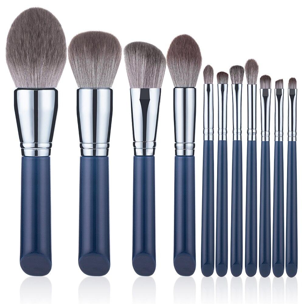 11PCS Makeup Brushes Set Super Soft Loose Powder Brushes Portable Lips Eyeshadow Brush Beauty Tools Professional Full Kit